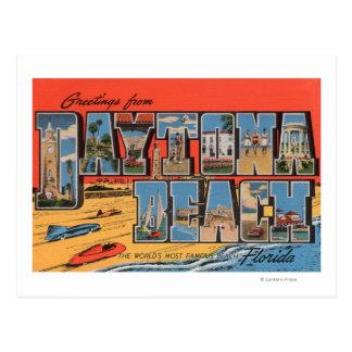 Daytona Beach, Florida - große Buchstabe-Szenen Postkarte