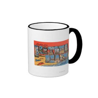 Daytona Beach, Florida - große Buchstabe-Szenen Tee Tassen
