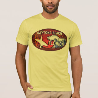 Daytona Beach Florida Surferkunst-Typt-stück T-Shirt