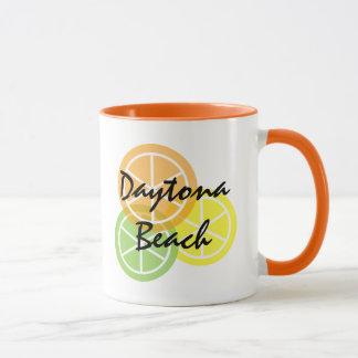 Daytona Beach Florida-Zitrusfrucht OrangeLimeLemon Tasse