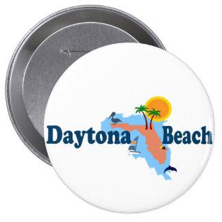 Daytona Beach. Runder Button 10,2 Cm