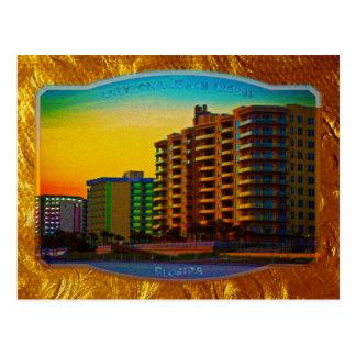 Daytona Beach stützt Küstenerholungsort-gerahmte Postkarte