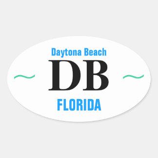DAYTONA- BEACHaufkleber (4) Ovaler Aufkleber