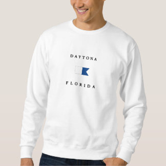 Daytona Florida Alphatauchen-Flagge Sweatshirt