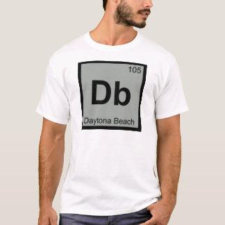 DB - Stadt-Chemie-Symbol Daytona Beach Florida T-Shirt