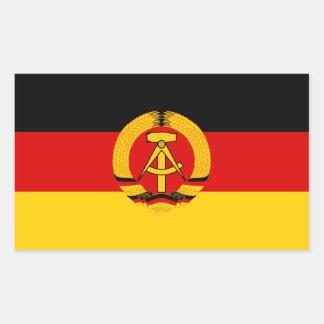 DDR-Flagge Rechteckiger Aufkleber
