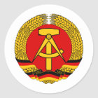 DDR Wappen Runder Aufkleber