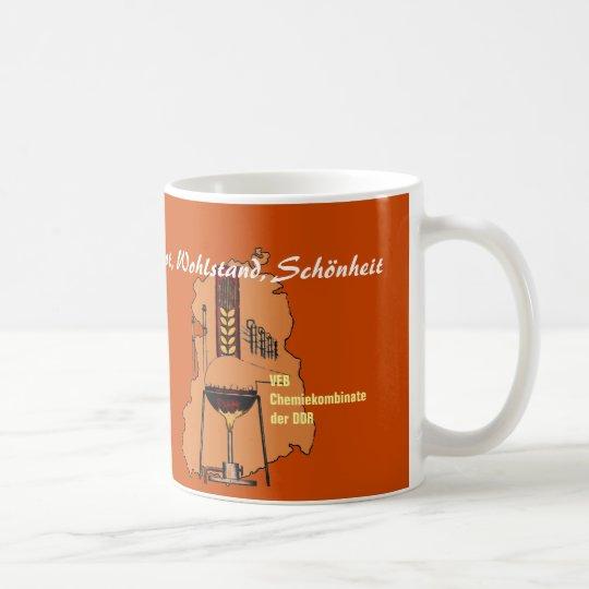 DDR Werbedesign Chemiekombinate Kaffeetasse