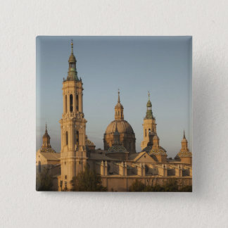De Basilica de Nuestra Senora Pilar, der Ebro Quadratischer Button 5,1 Cm