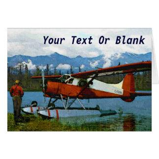 De Havilland-Biber Floatplane Grußkarte