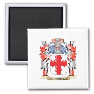 De-Lorenzo Wappen - Familienwappen Quadratischer Magnet