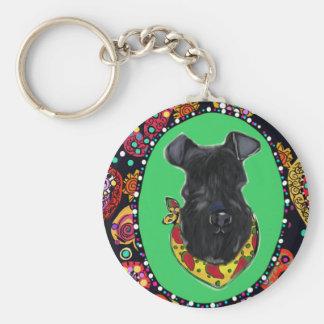 De Mayo Kerry-Blau-Terriers Cinco Schlüsselanhänger