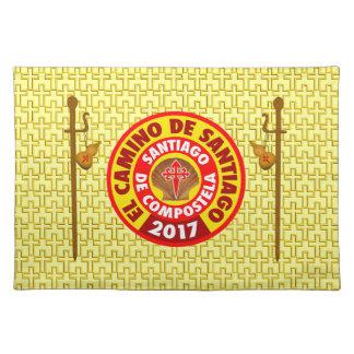 De Santiago 2017 EL Camino Stofftischset