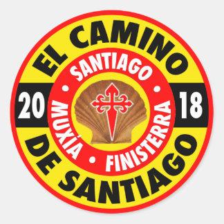 De Santiago 2018 EL Camino Runder Aufkleber