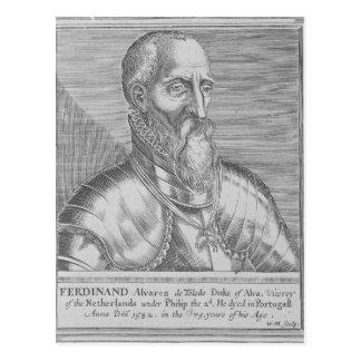 De Toledo, 3. Herzog Fernandos Alvarez von alba Postkarte