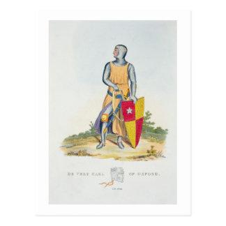 De Vere, Graf von Oxford, 1280, von 'altem Armou Postkarte