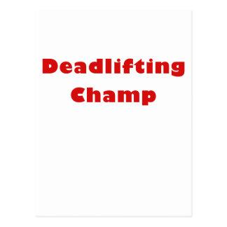 Deadlifting Champion Postkarte