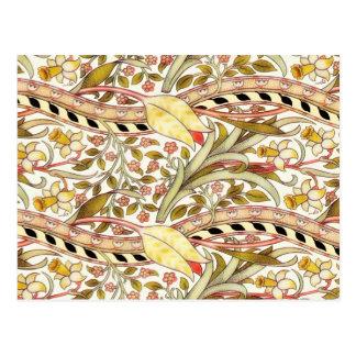 Dearle Narzissen-Vintages Blumen Postkarte