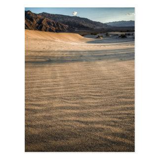Death Valley, natürliche Sanddünen der Wüste Postkarte