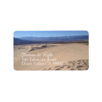 Death- ValleyAdressen-Etikett Adressaufkleber