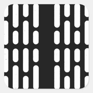 Deathstar Innenbeleuchtung Quadratischer Aufkleber