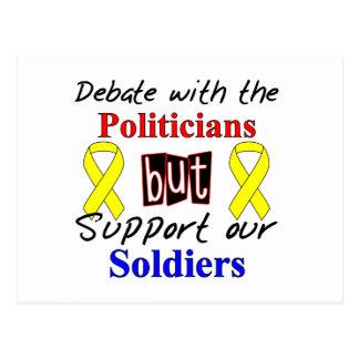 Debatte mit den Politikern aber stützen unser Postkarte