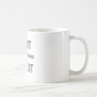 Debet und Kredit-Tasse Kaffeetasse