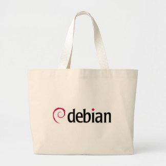 debian Linux-Logo Jumbo Stoffbeutel