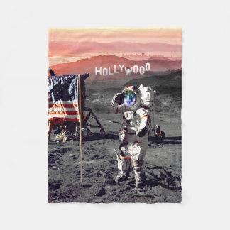 Decke - Hollywood-Mond-Mann-Fleece-Decke