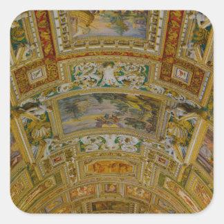 Decke im Vatikan-Museum in Rom Italien Quadratischer Aufkleber