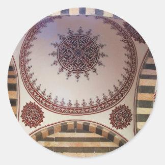 Decke in einer türkischen Moschee Diyarbakır Runder Aufkleber