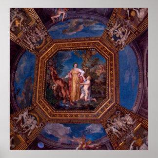 Decke in Vatikan in Rom, Italien Poster