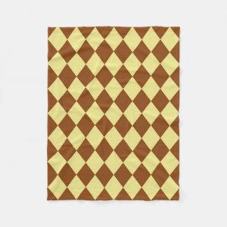 Decke: Kakifarbige und Sattel-Brown-Diamanten Fleecedecke