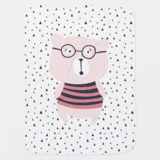 Decke trinkt estel rosa zu bear babydecke