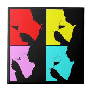 Decken Sie retro mutiges Viererkabel-Popkunst Kleine Quadratische Fliese