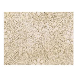 Deckenentwurf für den Perlen-Raum, in Isfahan, für Postkarte
