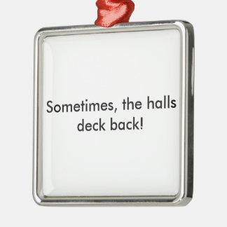 Decking-Hallen Silbernes Ornament
