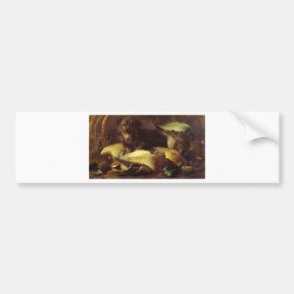 Decoymans Hund und Ente durch Edwin Henry Landseer Autoaufkleber