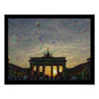 DeepDream Berlin, Brandenburger Tor Poster