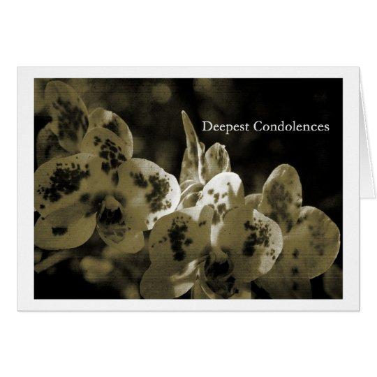Deepest Condolences Karte