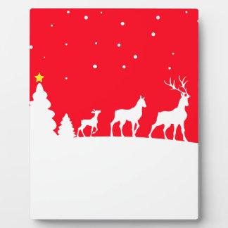 Deer in winter landscape fotoplatte