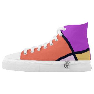 Defekte Fliesen-Sorbetschuhe Hoch-geschnittene Sneaker