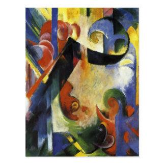 Defekte Formen durch Franz Marc Postkarte