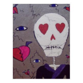 Defekte Herzen und Grimm, x Postkarte