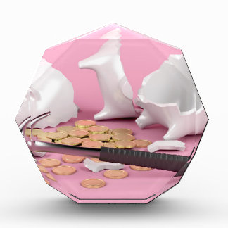 Defekte piggy Bank Auszeichnung