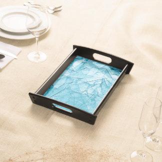 defekter Glasbehälter Tablett
