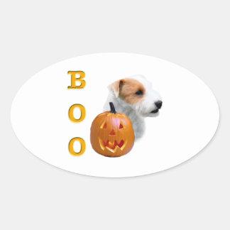 Defekter Mantel Pastor-Russell Terrier Halloween Ovaler Aufkleber