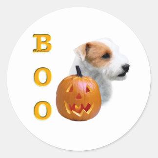 Defekter Mantel Pastor-Russell Terrier Halloween Runder Aufkleber