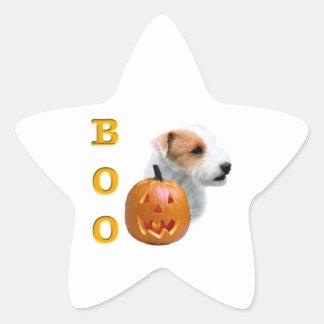 Defekter Mantel Pastor-Russell Terrier Halloween Stern-Aufkleber