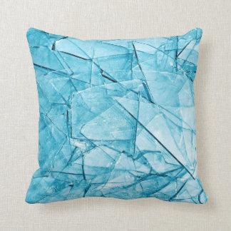 defektes blaues Glaskissen Kissen